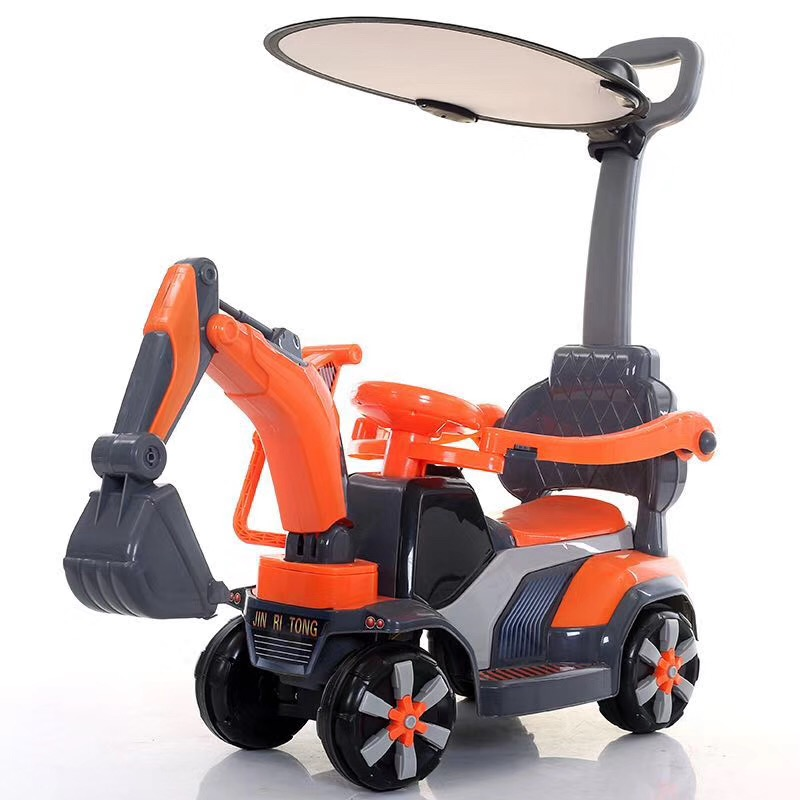Factory wholesale Baby Walker Stroller Ride on Excavators Car Plastic Toys for Children Kids Mini Ride on Toy Excavator