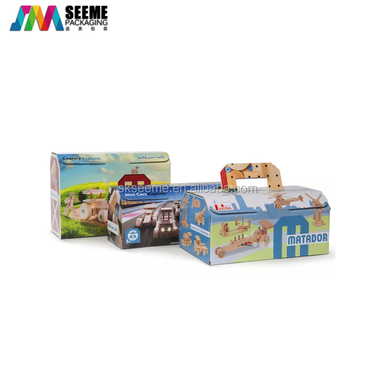 Wholesale eco friendly fancy toy packaging boxes with custom logo
