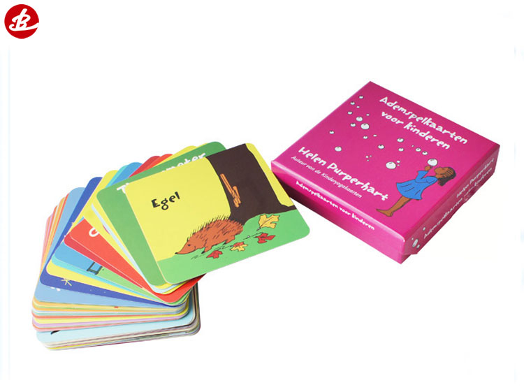 Custom Printing with Boxes Paper Educational Flash Cards