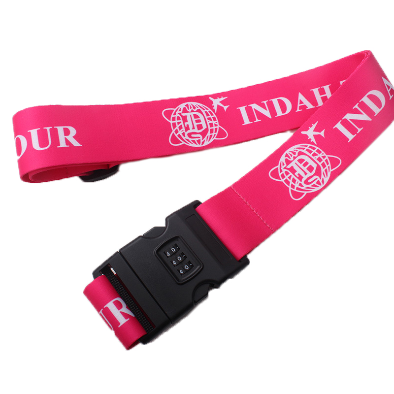 Wholesale Sublimation Suitcase Belt Travel Luggage Strap with Password Lock