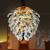 American countryside simple Crimean Pinecone shape crystal pendant lamp / light / chandelier