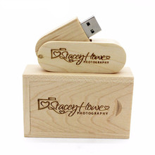 Alibaba Stock Price Natural Bamboo Maple Walnut Wooden Box Usb flash drive with Customized Laser Logo