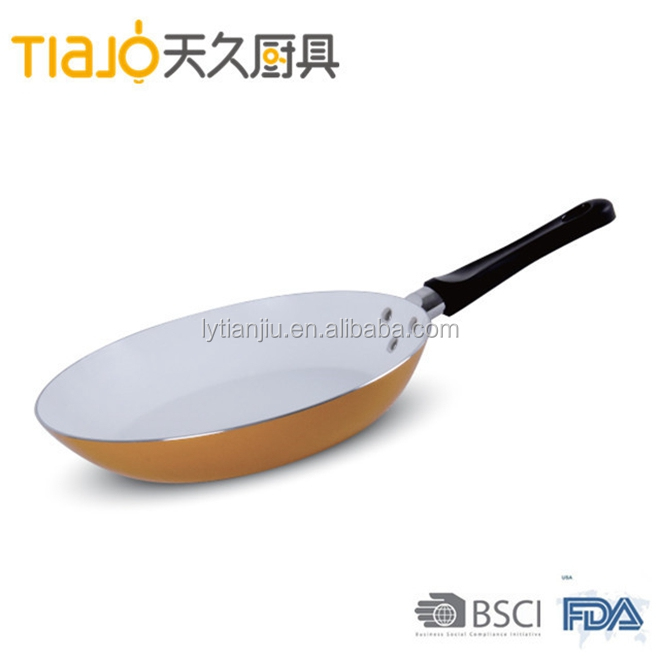 marble coated non stick ceramic frying pan