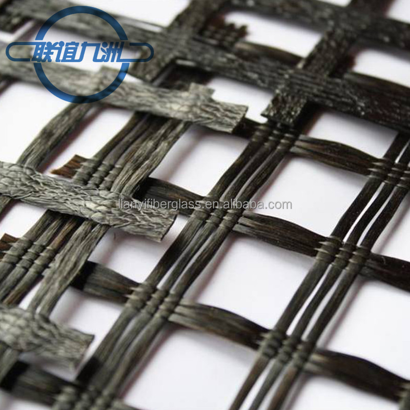 Factory price PVC coated Polyester Geogrid(PET geogrid) 6T 8T 10T 15T