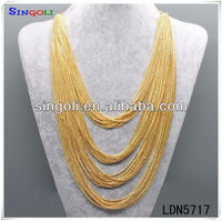 Draped Chain Necklace Latest Gold Chain Designs 2012 LDN5717