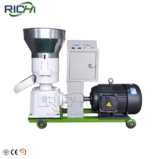 RICHI- CE certification flat die straw <strong>pellet</strong> press, <strong>pellet</strong> feed press machine