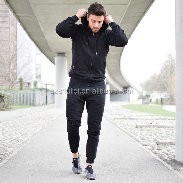Cheap custom gym slim fit pain tracksuit /winter sport mens tracking suit wholesale H-2000