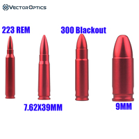 Vector Optics Snap Caps 223 Rem 5.56mm 7.62x39mm 300 Blackout 9mm Dummy Rounds With Sling