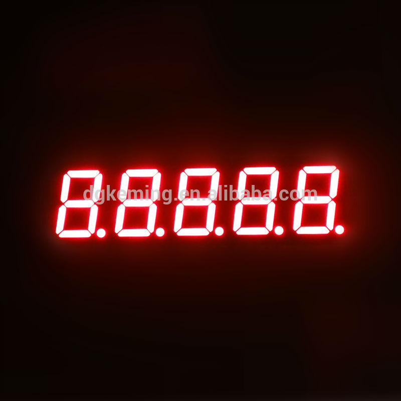 Ultra Red cathode kem five 5 digit led seven segment display