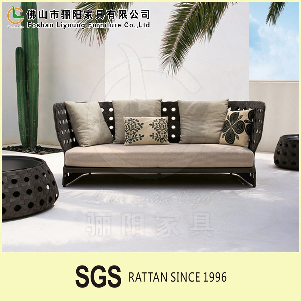 China supplier Stylish Popular All Kinds Of Color Design Dining Room Wicker Furniture , Beach Fashionable Rattan Corner Sofa