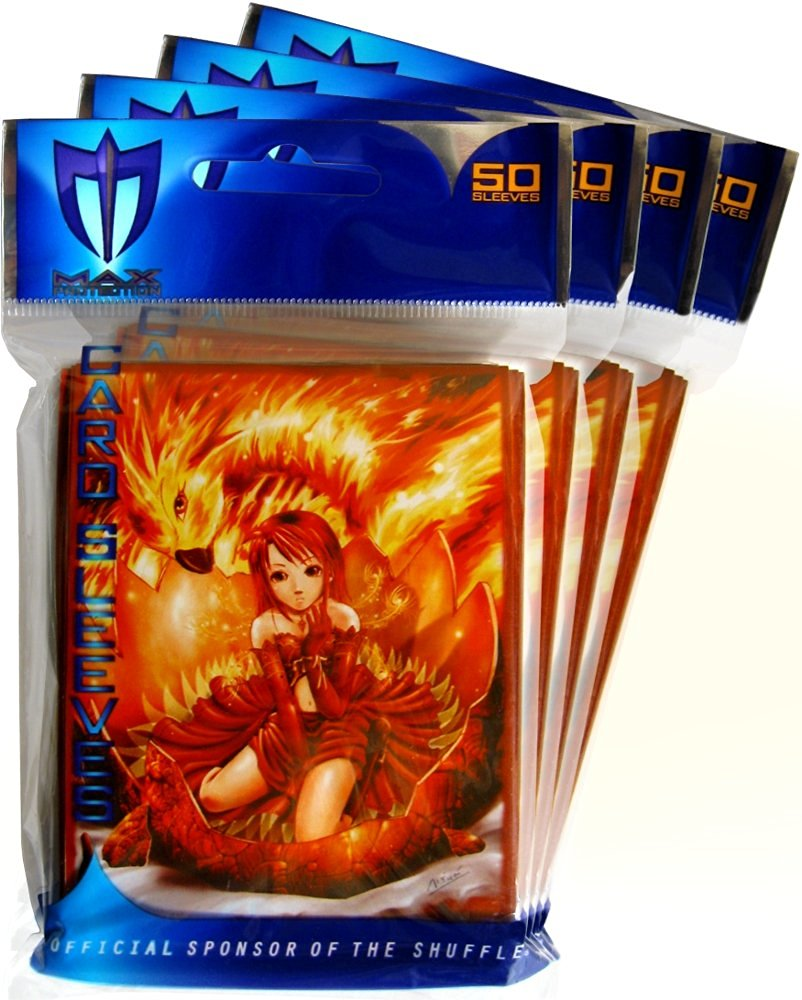 (4) 50 Pack of Fire Angel Deck Guards / Sleeves - Max Protection
