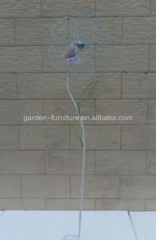 Decorative Metal Garden Flower Stakes Handicraft Tall Plant Yard
