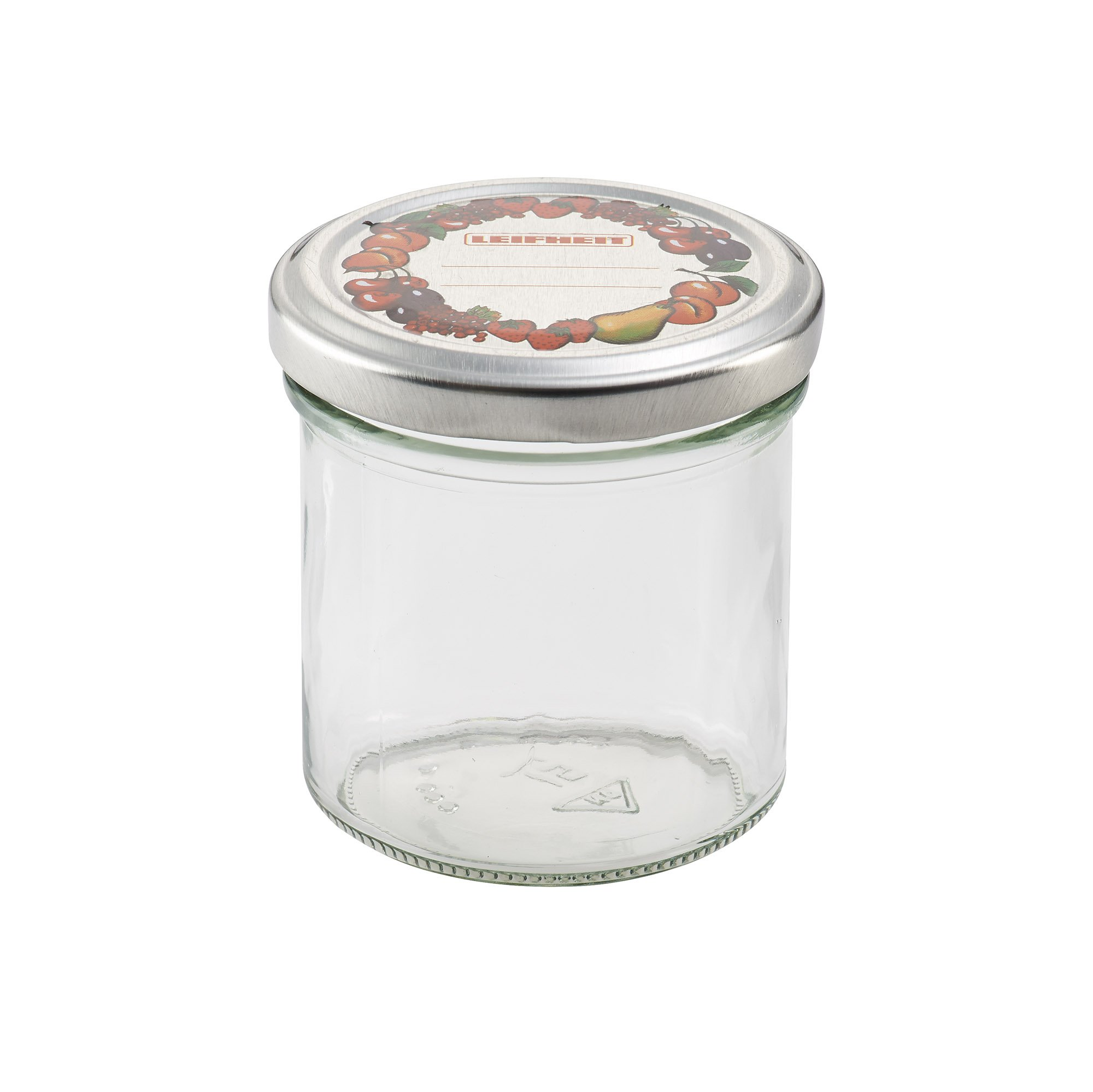 1//2 Pint Clear Anchor Hocking Home Canning Jars with Metal Lids /& Rings