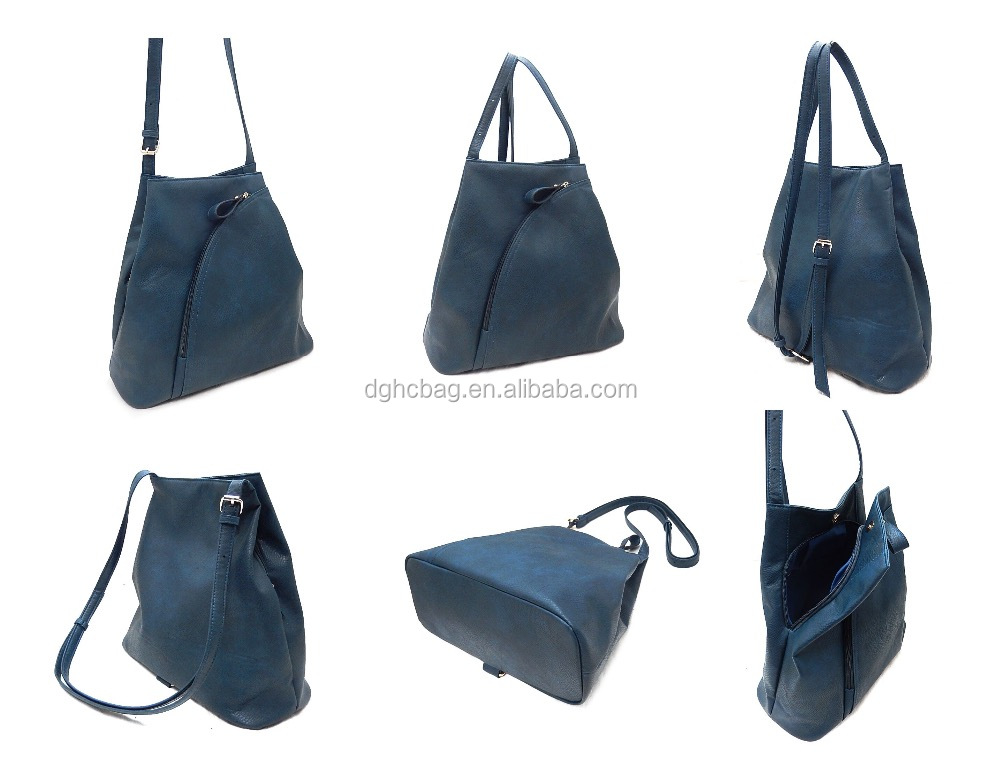 ISO9001 Audited Factory Wholesale PU hand bag with many pockets traveling bag classic shopping bag