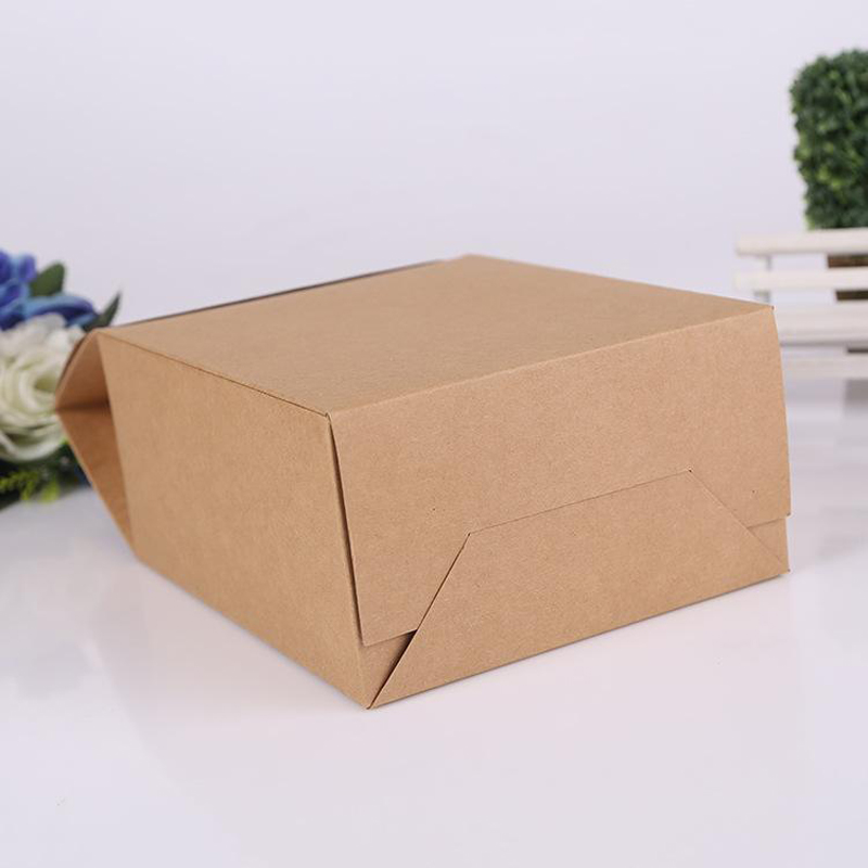 Handle Gift Paper Bag Handmade Soap Zakka Craft Tea Cookies Cake Candy Packaging Paper Boxes with you logo