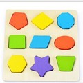 geometric shape learning puzzle wooden baby toy