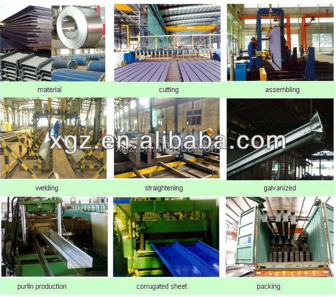 prefabricated Construction Steel Workshop Plan