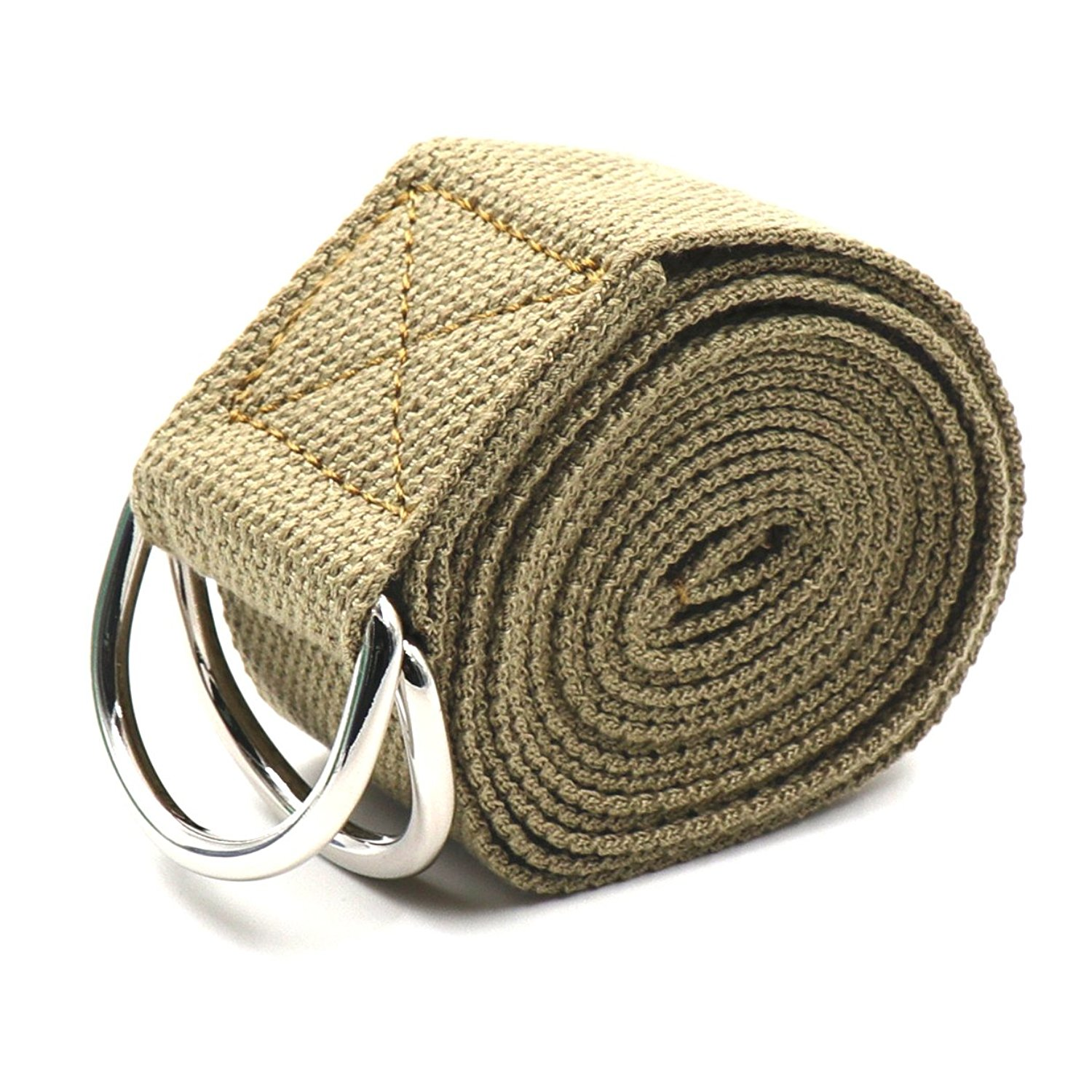 Teeoff Yoga Straps with Adjustable Metal D-Ring for Pilates Gym Workouts Stretching 8 Colors
