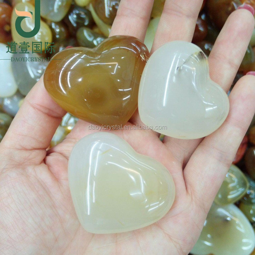 Wholesale Natural crystal agate heart necklace wedding gifts for guests
