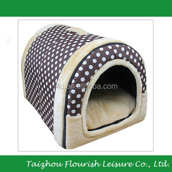 Indoor House Warm Pet Kennel Puppy House Plush Dog Cat/Kitty Pet Bed
