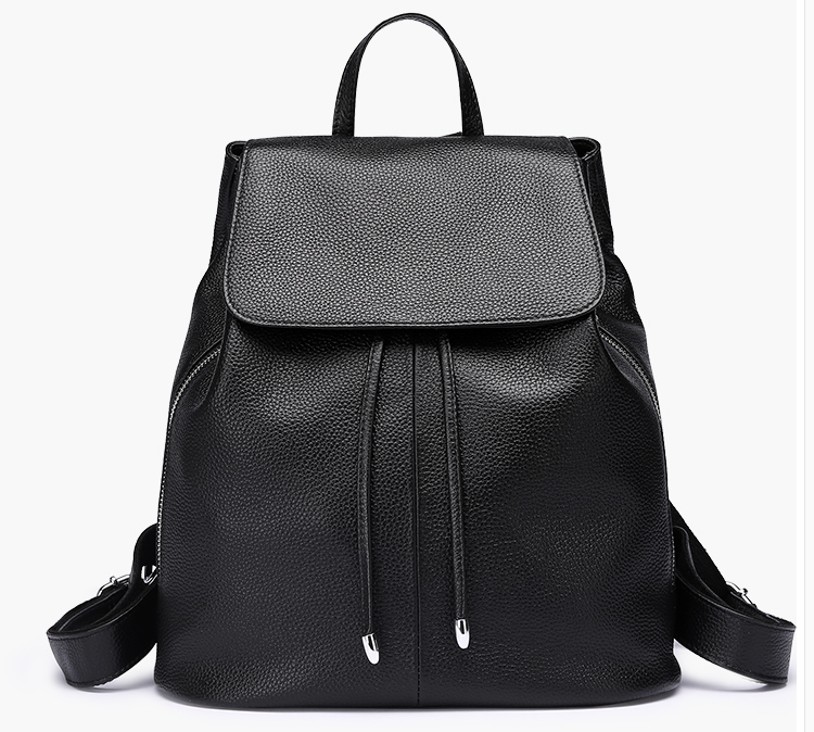 Women's Backpack Pu Leather backpack Water Resistant Casual backpack School Bag Travel Bag Black