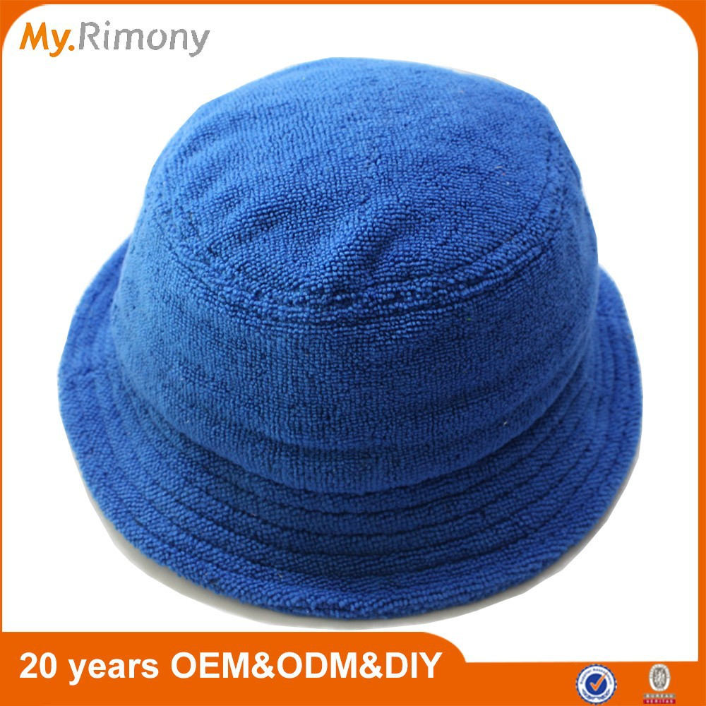 74d33ba947b958 Blue Terry Towel Bucket Hat In Good Quality - Buy Terry Towel Bucket ...
