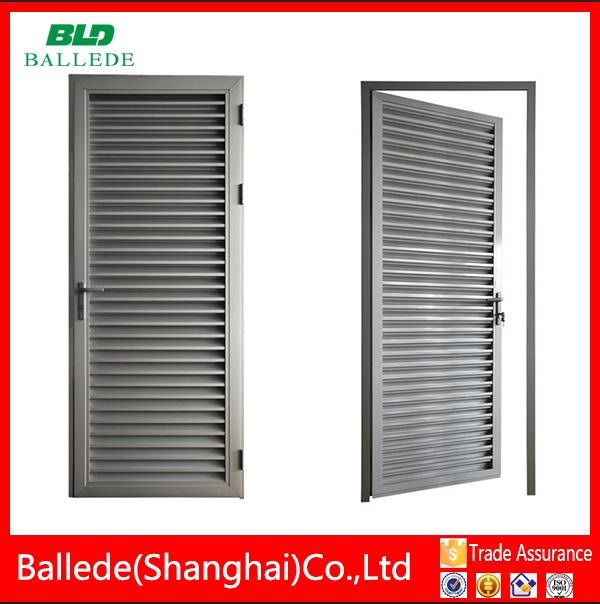 Z tipo de hoja de aluminio persiana puerta puertas - Tipos de perfiles de aluminio ...
