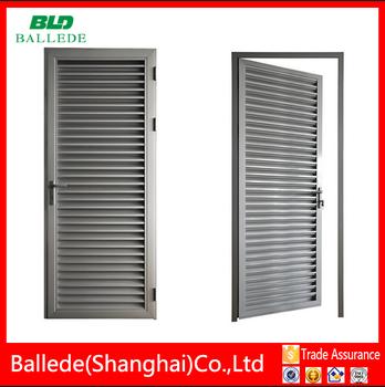 Aluminio tipo z hoja puerta persiana buy product on for Puerta tipo louver