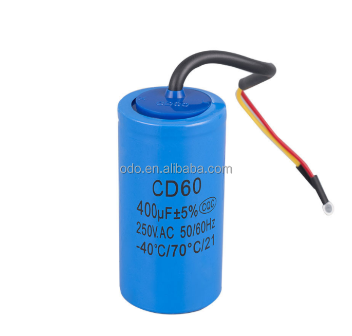 cd60 50/60hz <strong>ac</strong> 400uf 250v electrolytic starting capacitor for sale
