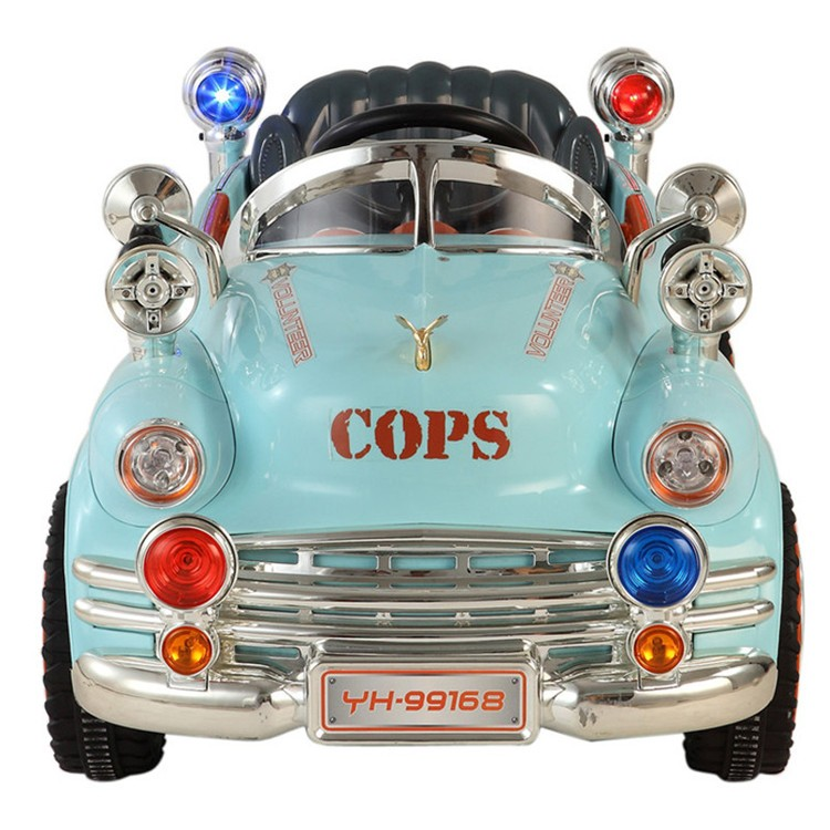 Classic Police Style Kids Ride on Battery Powered Electric Car with Remote Control