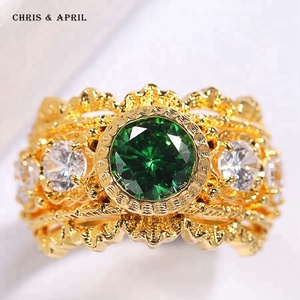 Wholesale 925 Italy Silver 925 silver Emerald Rings
