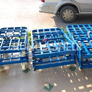 STC-2 industrial metal hand cart trolley big wheel