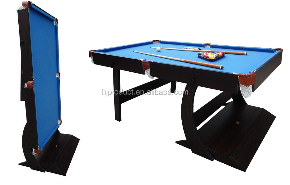 Beautiful Design Good Quality Mdf Bed 4ft,5ft,6ft Foldable Pool Table,Folding Pool Table - Buy ...