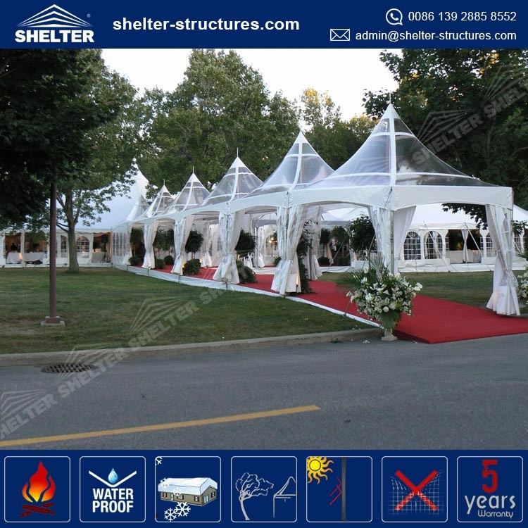 Top selling professional production team in Shelter GZ tent de weddings transparent event outdoor 4m tent for sport and party