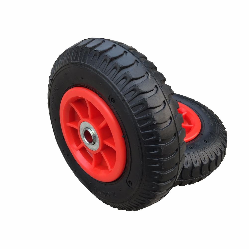 Durable 8 inch small rubber wheels for hand trolley made in china
