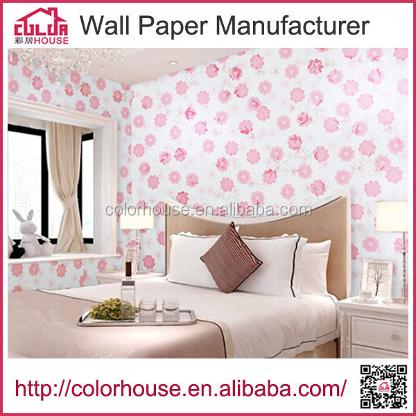 New design building materials self adhesive wallpaper for office <strong>walls</strong>