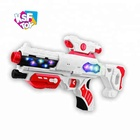 china supplier electronic musical light function plastic B/O space gun toys for boys