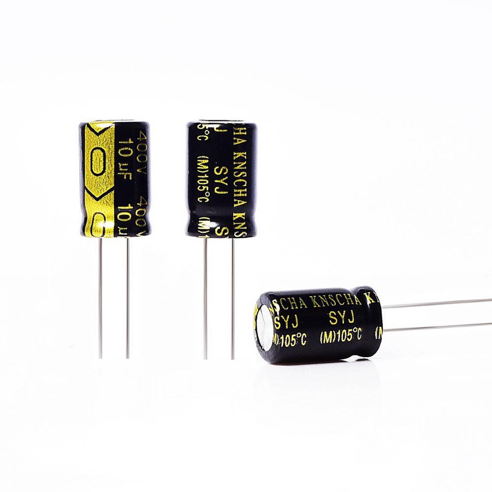 New 10x 390uF 250V 105° High Temp Radial Snap-In Mount Electrolytic Capacitor DC
