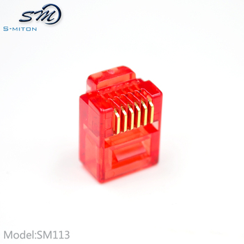 6 wire connector no-shield rj12 6p6c modular plug connector