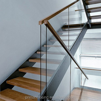 Modern Wood Handrail Glass Railing Staircase Use Buy Stair Use