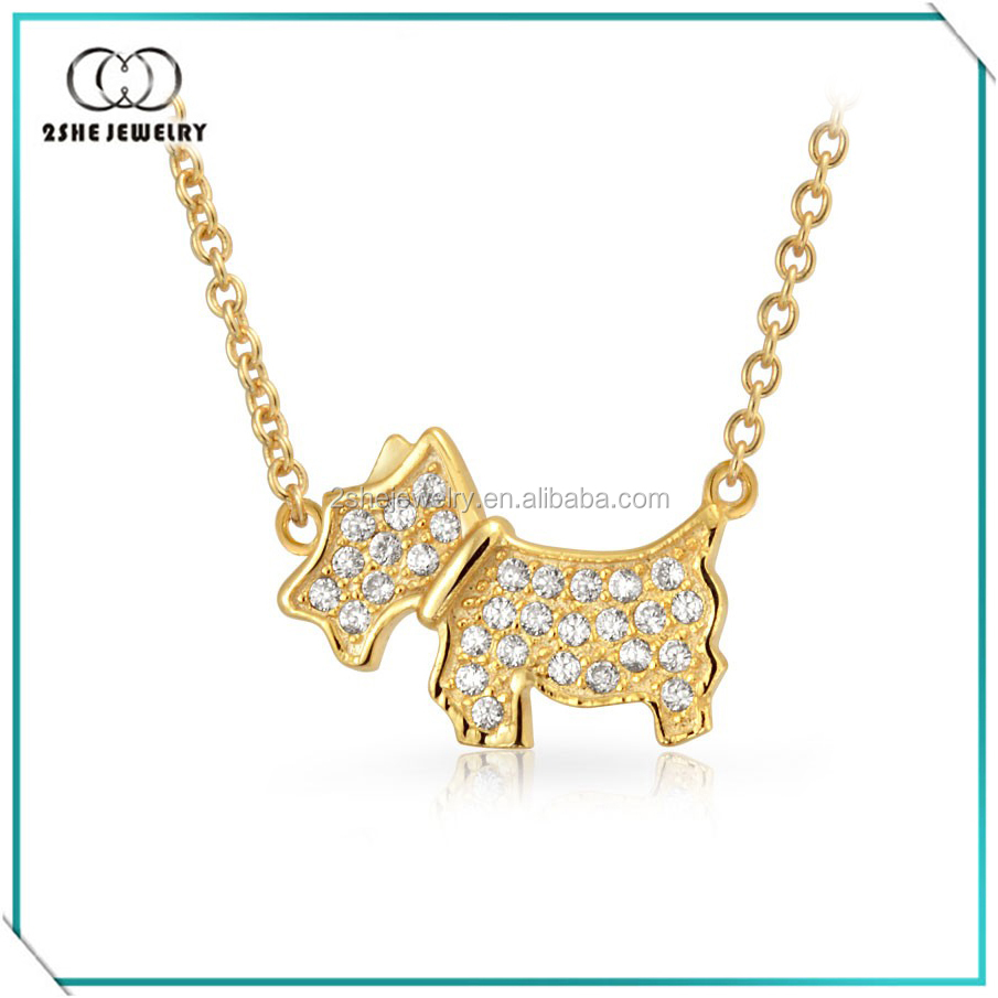 Latest animal puppy design gold plated jewelery