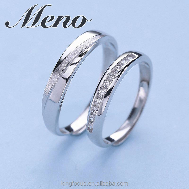 Meno S925 silver missing you lover couple ring fashion ethos jewelry