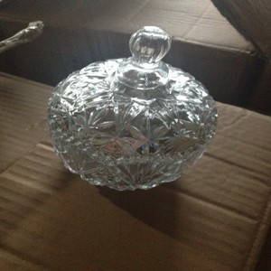 Mini chocolate glass jar,silver colored Shannon Crystal Candy Dish Covered,hannon crystal kiss covered candy dish