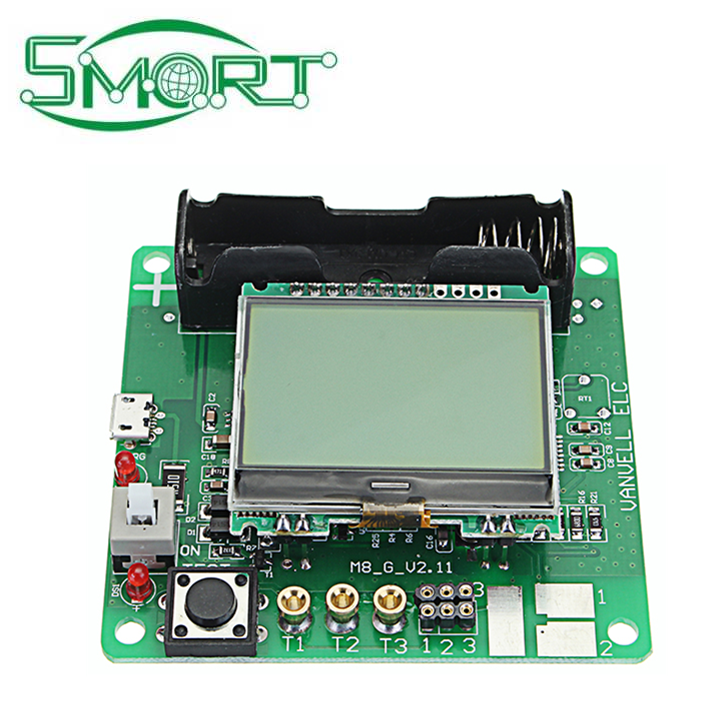 Smart Electronics~3.7V DIY TRANSISTOR GRAPHIC TESTER LCD DIGITAL MULTIMETER DIODE INDUCTOR CAPACITOR ESR METER + SHELL