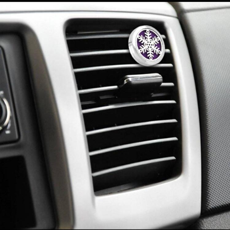 Çin factorycustomize plastik Araba Hava Lotus klima klip parfüm için Madalyon Havalandırma Klip