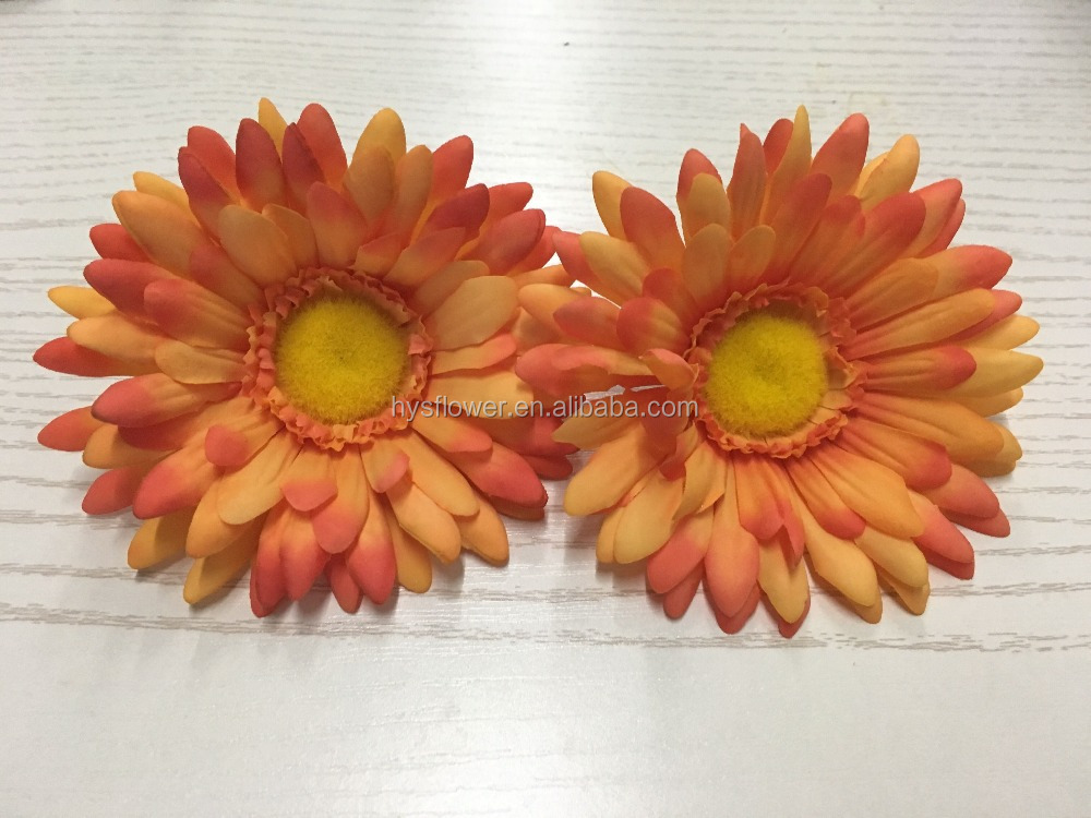 Fashion handmade real touch gerbera daisy flower heads