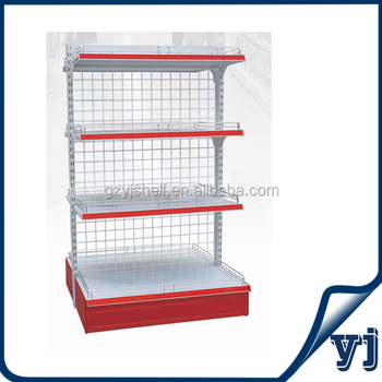 Supermarket Shelving,Wire Mesh Wall Rack / Wall Shelf For Store ...