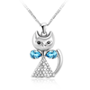 OUXI latest fashion design animal series jewelry cat pendant/made with element necklace 10639 mujer collar