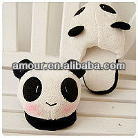 soft cute panda thermal slippers animal shaped slippers for adults indoor slippers foot warmer for sale