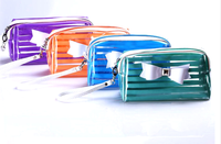 clear small plastic pvc cosmetic bag/case for travel
